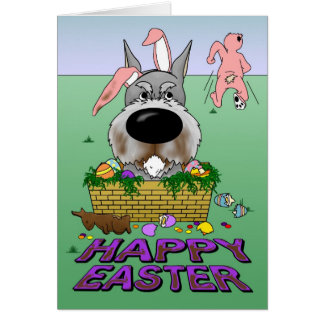 Schnauzer Happy Easter Card