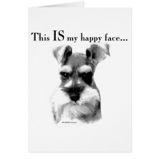Schnauzer Happy Face Greeting Card