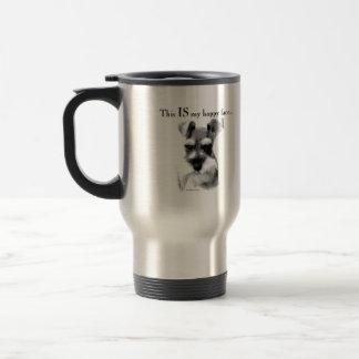 Schnauzer Happy Face 15 Oz Stainless Steel Travel Mug