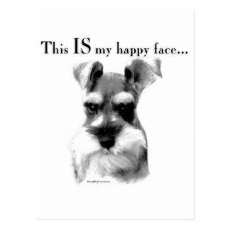 Schnauzer Happy Face Post Card