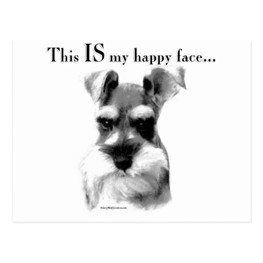 Schnauzer Happy Face Postcard