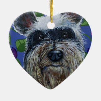 Schnauzer Heart Keepsake Ornament