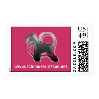 Schnauzer Heart Postage Stamps