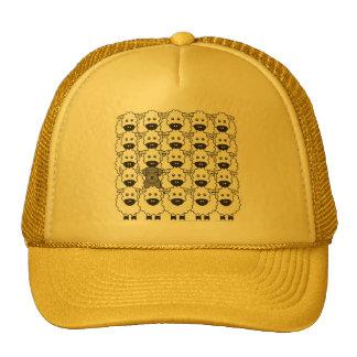 Schnauzer in the Sheep Trucker Hat