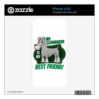 Schnauzer is my best friend skins for the iPhone 4