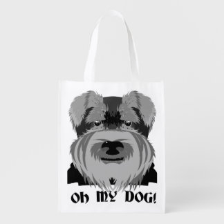 Schnauzer lindo oh mi perro bolsas para la compra