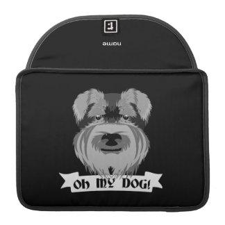 Schnauzer lindo oh mi perro fundas para macbooks