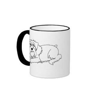 schnauzer line art mug
