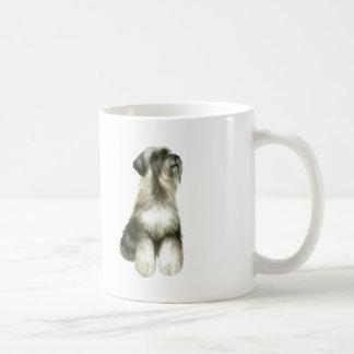 Schnauzer - looking up (natural ears) coffee mug