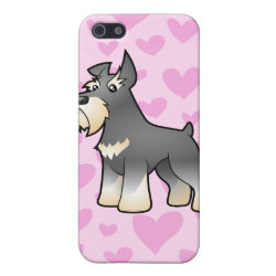 Case Savvy iPhone 5 Matte Finish Case with Miniature Schnauzer Phone Cases design