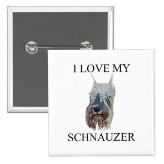 SCHNAUZER Love! Pinback Button