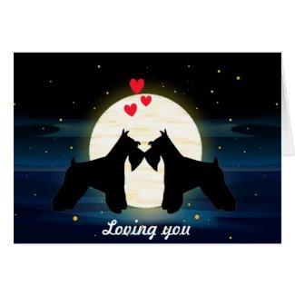 Schnauzer Love Card