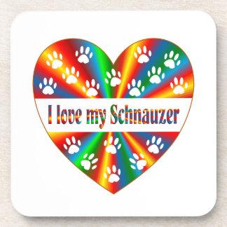 Schnauzer Love Coaster