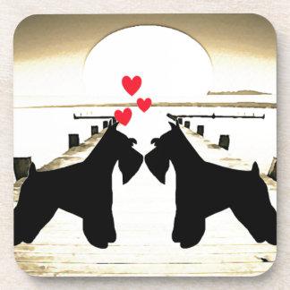 Schnauzer Love Cork Coaster