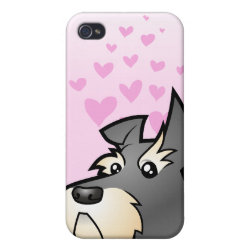 Schnauzer Love Cover For iPhone 4