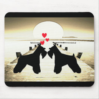 Schnauzer Love Mouse Pad