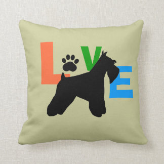 Schnauzer Love Throw Pillows