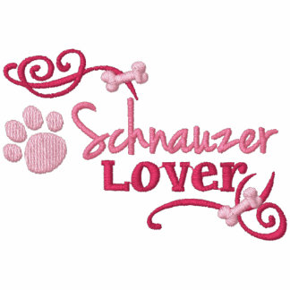 Schnauzer Lover Embroidered Hoodie
