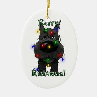 Schnauzer - luces de navidad ornamentos de reyes