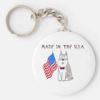 Schnauzer Made In The USA Keychain