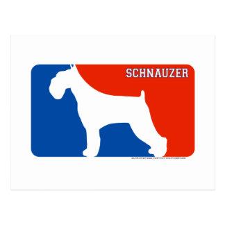 Schnauzer Major League Dog Postcard