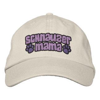 Schnauzer Mama Embroidered Baseball Hat