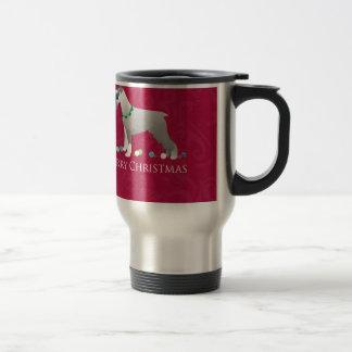 Schnauzer Merry Christmas Design 15 Oz Stainless Steel Travel Mug
