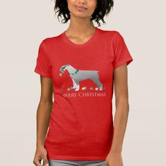 Schnauzer Merry Christmas Design Tshirts