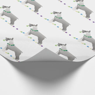 Schnauzer Merry Christmas Design Wrapping Paper