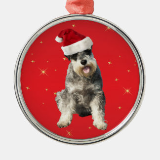 Schnauzer mini dog christmas decoration ornament