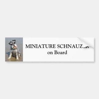 Schnauzer miniatura a bordo personalizado pegatina para auto