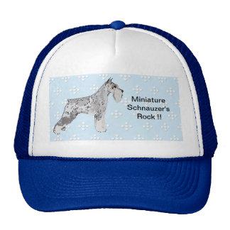 Schnauzer miniatura - azul con el diseño blanco de gorra