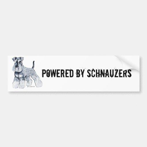 Schnauzer miniatura etiqueta de parachoque