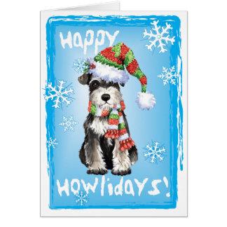 Schnauzer miniatura feliz de Howliday Tarjeta De Felicitación