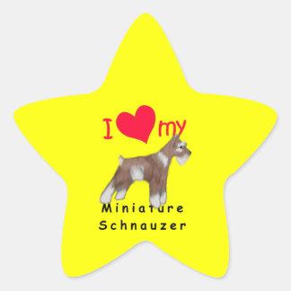 Schnauzer miniatura colcomanias forma de estrellaes