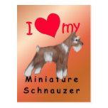 Schnauzer miniatura tarjetas postales