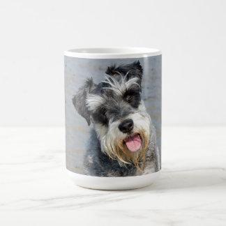 Schnauzer miniature dog cute photo at the beach coffee mug