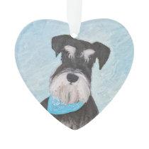 Schnauzer (Miniature) Painting - Cute Original Dog Ornament