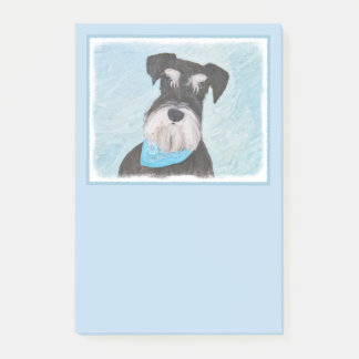Schnauzer (Miniature) Painting - Cute Original Dog Post-it Notes