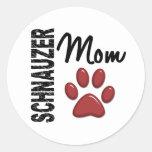 Schnauzer Mom 2 Round Stickers