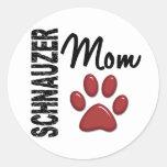 Schnauzer Mom 2 Stickers