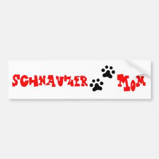 Schnauzer Mom Bumper Sticker