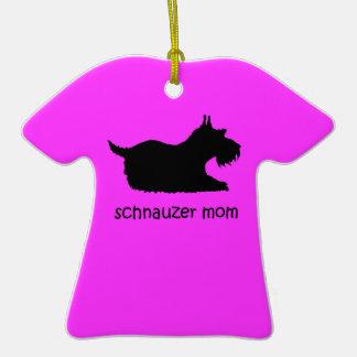 schnauzer mom christmas tree ornament