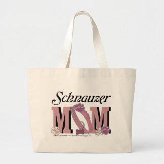 Schnauzer MOM Large Tote Bag