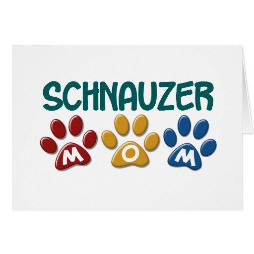 SCHNAUZER Mom Paw Print 1 Card