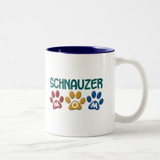 SCHNAUZER Mom Paw Print 1 Coffee Mug
