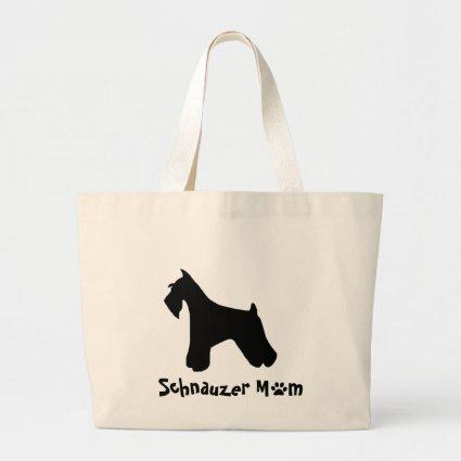 Schnauzer Mom Tote Bags
