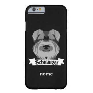 Schnauzer negro y gris funda para iPhone 6 barely there