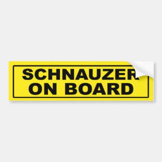 Schnauzer on Board Bumper Sticker