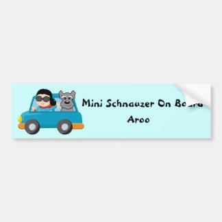 Schnauzer on Board Car Bumper Sticker